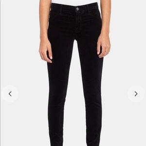 J Brand Black Velveteen Skinny Jeans